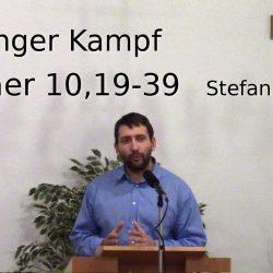 Hebräer 10,19-10,39 – Ein langer Kampf