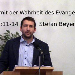 Epheser 6:11-14 – Umgürtet mit der Wahrheit des Evangeliums