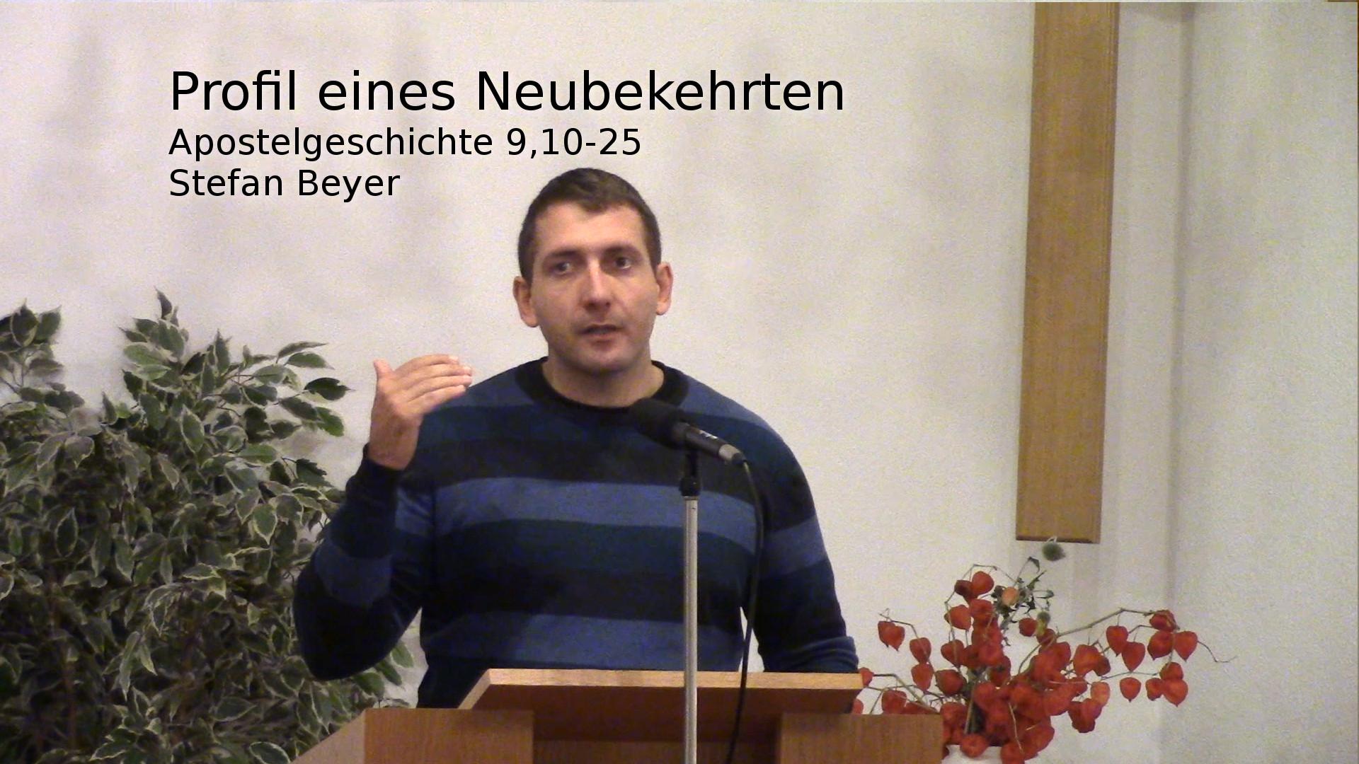 Apostelgeschichte 9,10-25 – Profil eines Neubekehrten