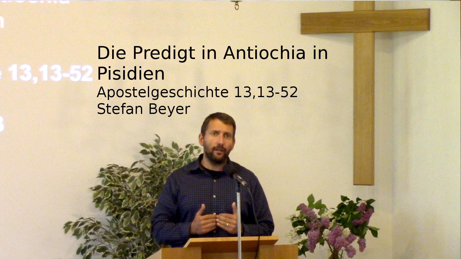 Apostelgeschichte 13:13-52 – Die Predigt in Antiochia in Pisidien