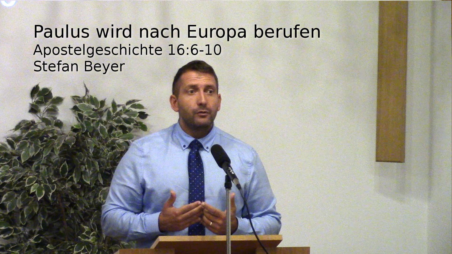 Apostelgeschichte 16:6-10 – Paulus wird nach Europa berufen