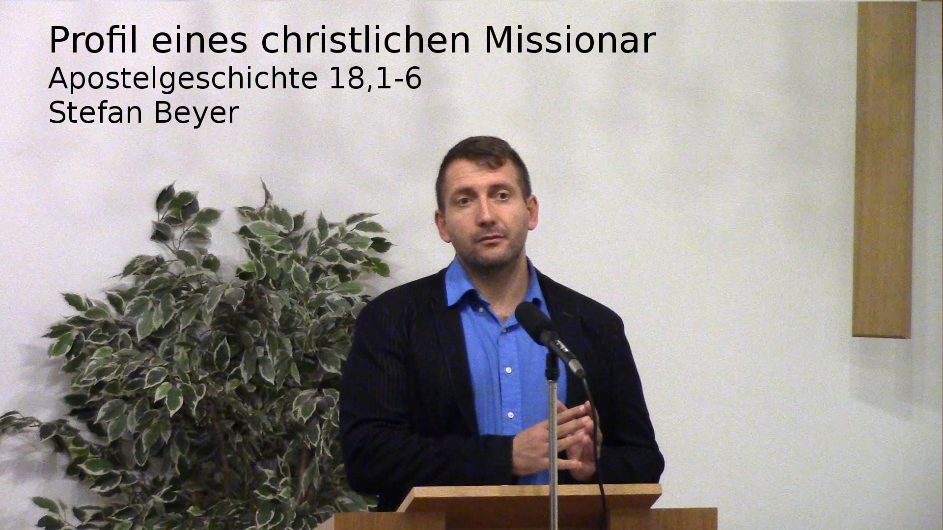 Apostelgeschichte 18:1-6 – Profil eines christlichen Missionars