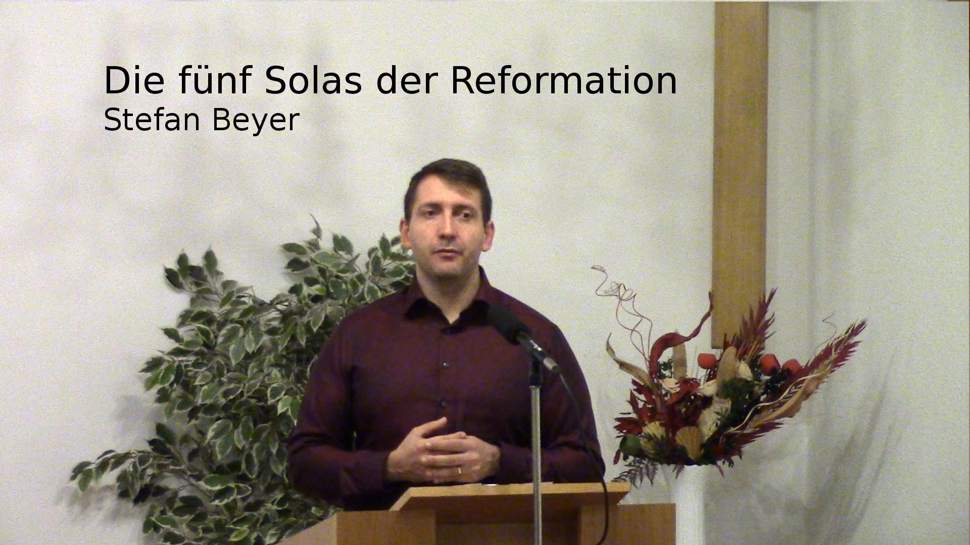 Die fünf Solas der Reformation