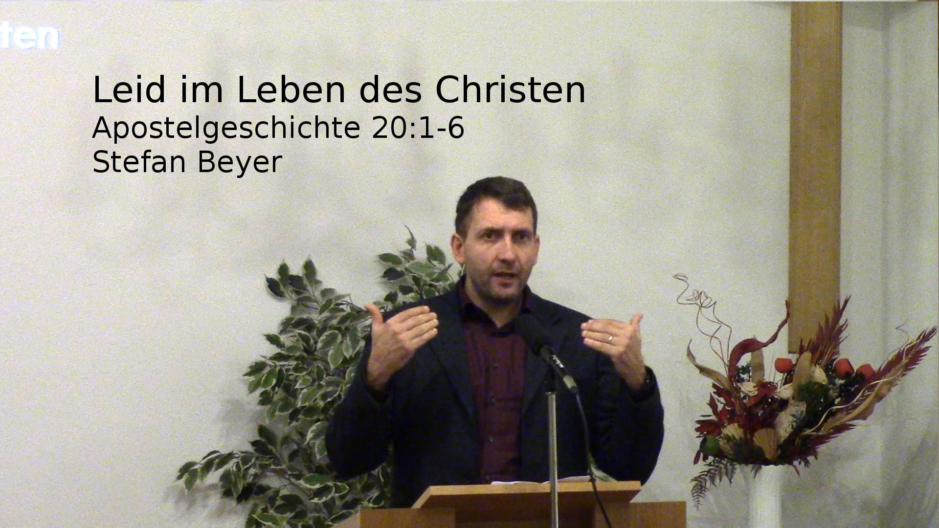 Leid im Leben des Christen
