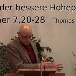 Hebräer 7:20-28 – Jesus der bessere Hohepriester