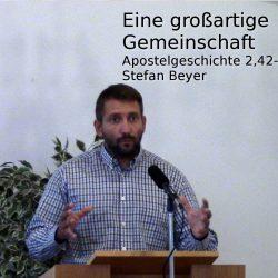 Apostelgeschichte 2:42-47 – Eine großartige Gemeinschaft