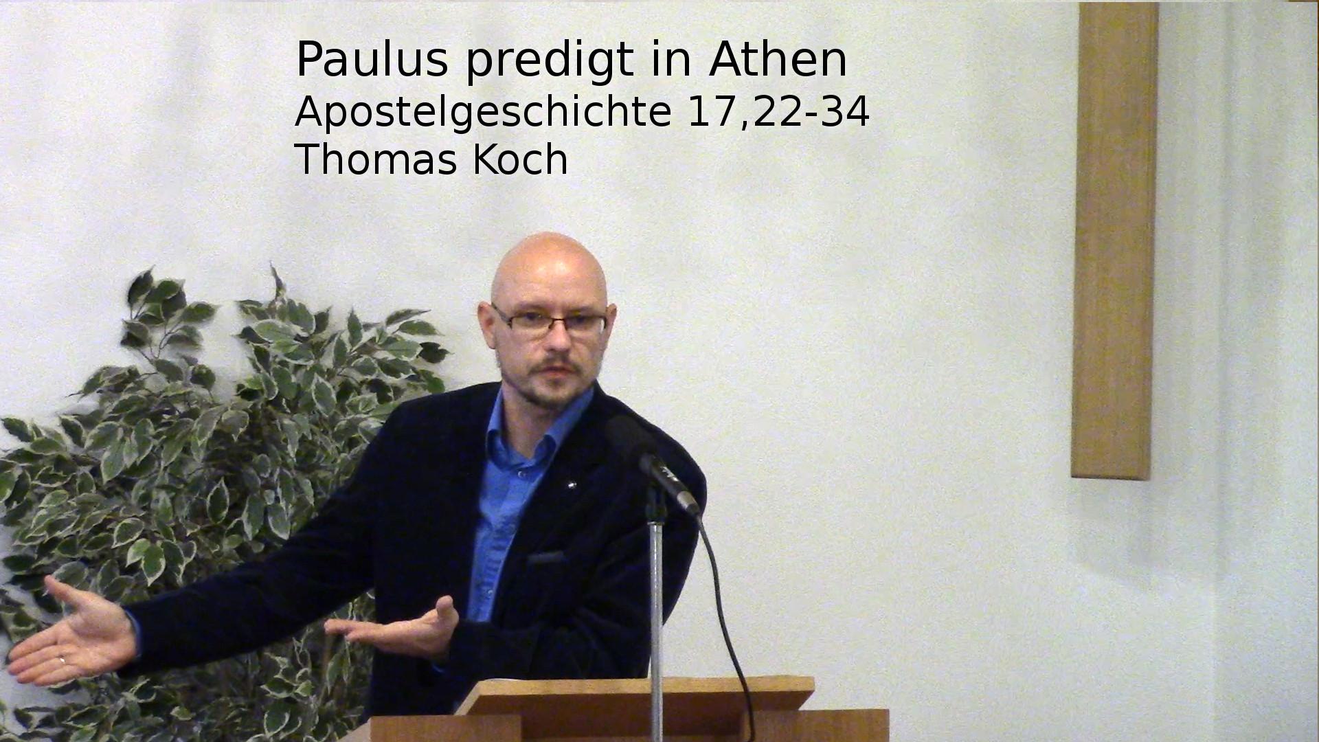 Apostelgeschichte 17:22-34 – Paulus predigt in Athen