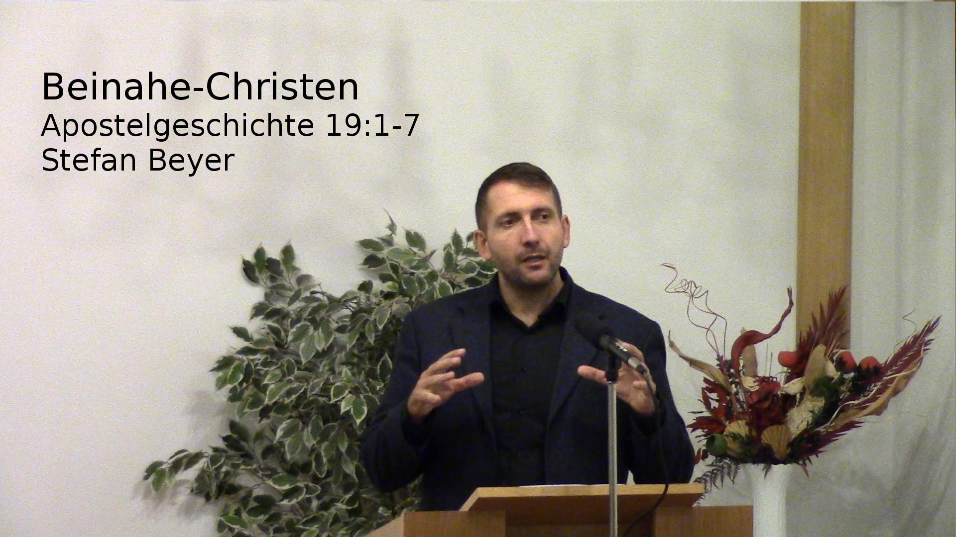 Apostelgeschichte 19:1-7 – Beinahe-Christen