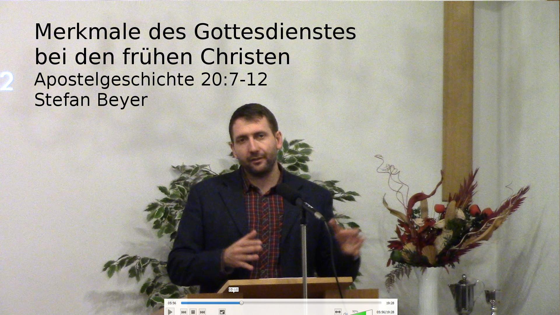 Merkmale des Gottesdienstes bei den frühen Christen
