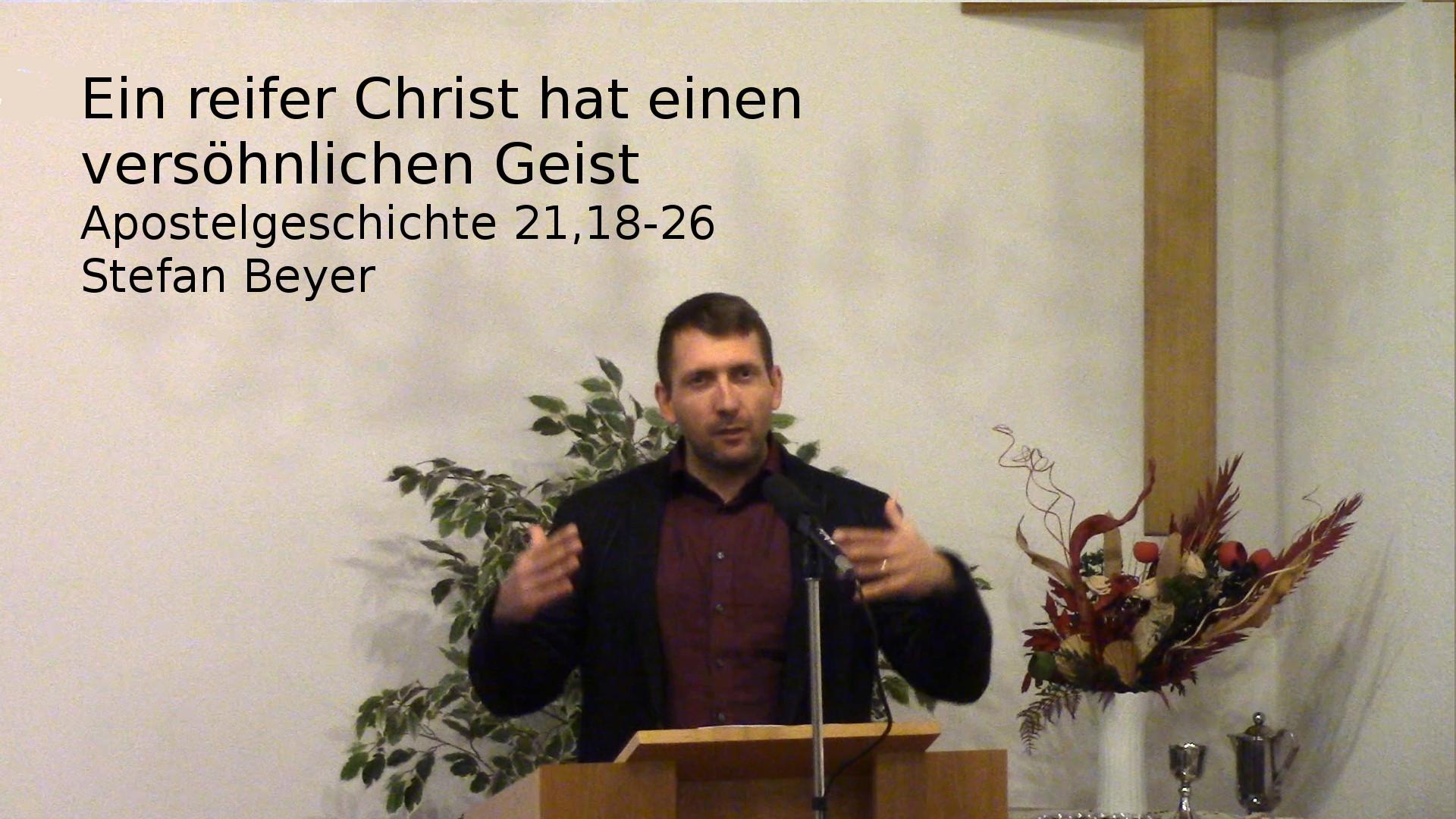 Ein reifer Christ hat einen versöhnlichen Geist