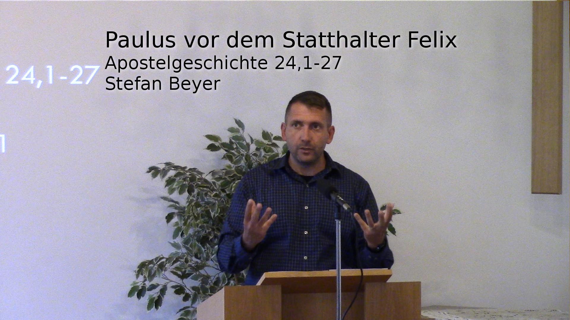 Paulus vor dem Statthalter Felix