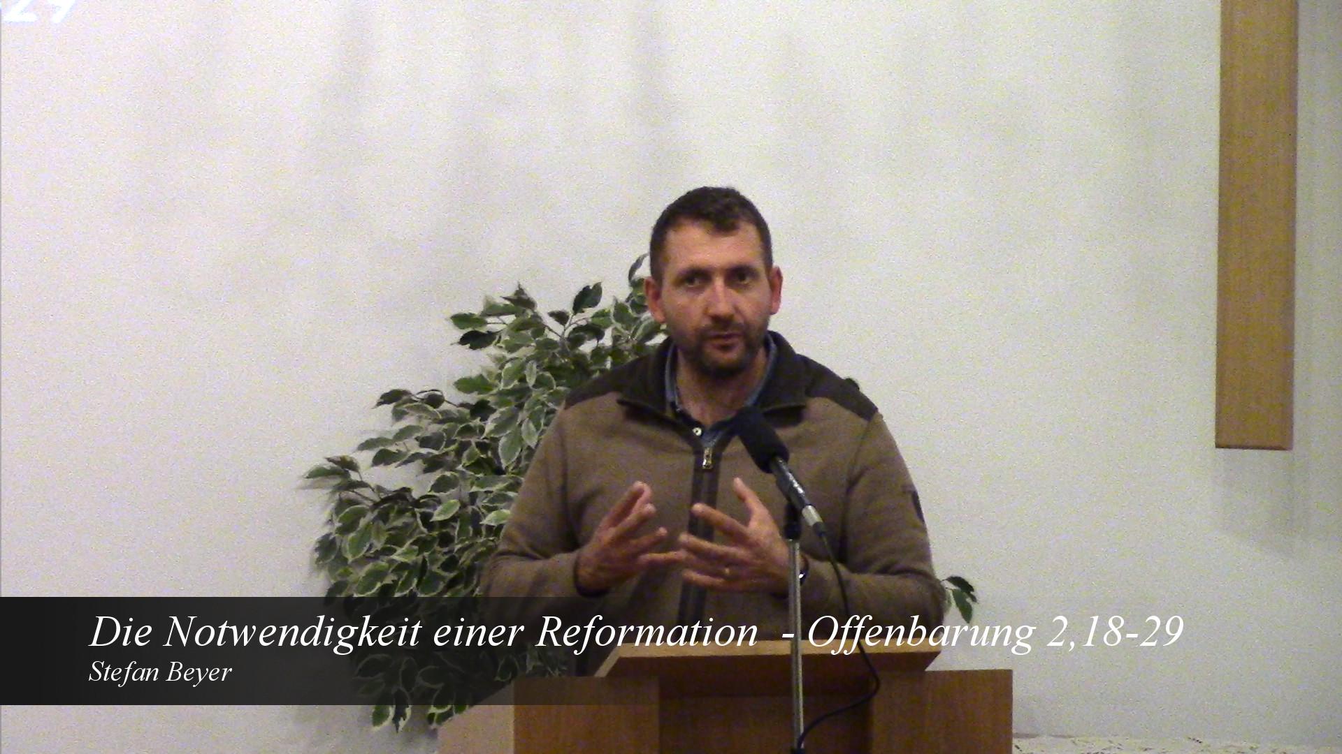 Die Notwendigkeit einer Reformation