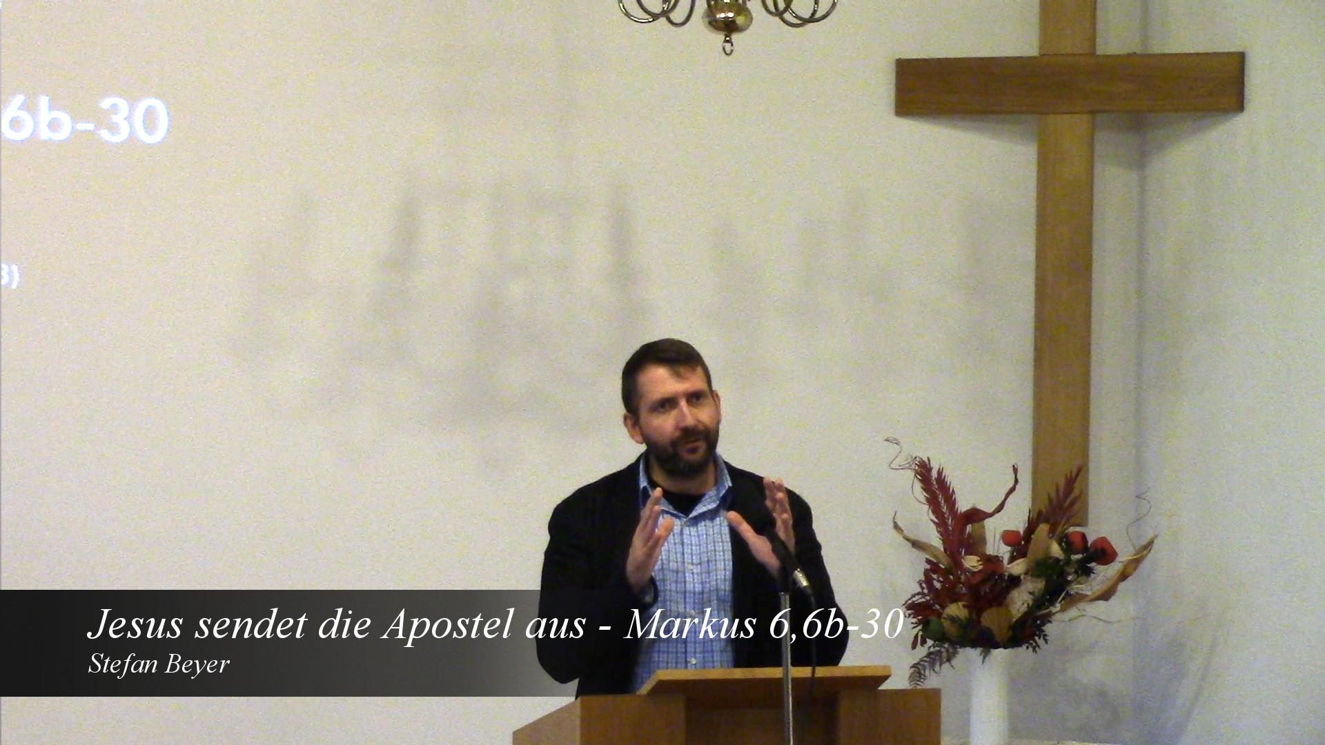 Jesus sendet die Apostel aus