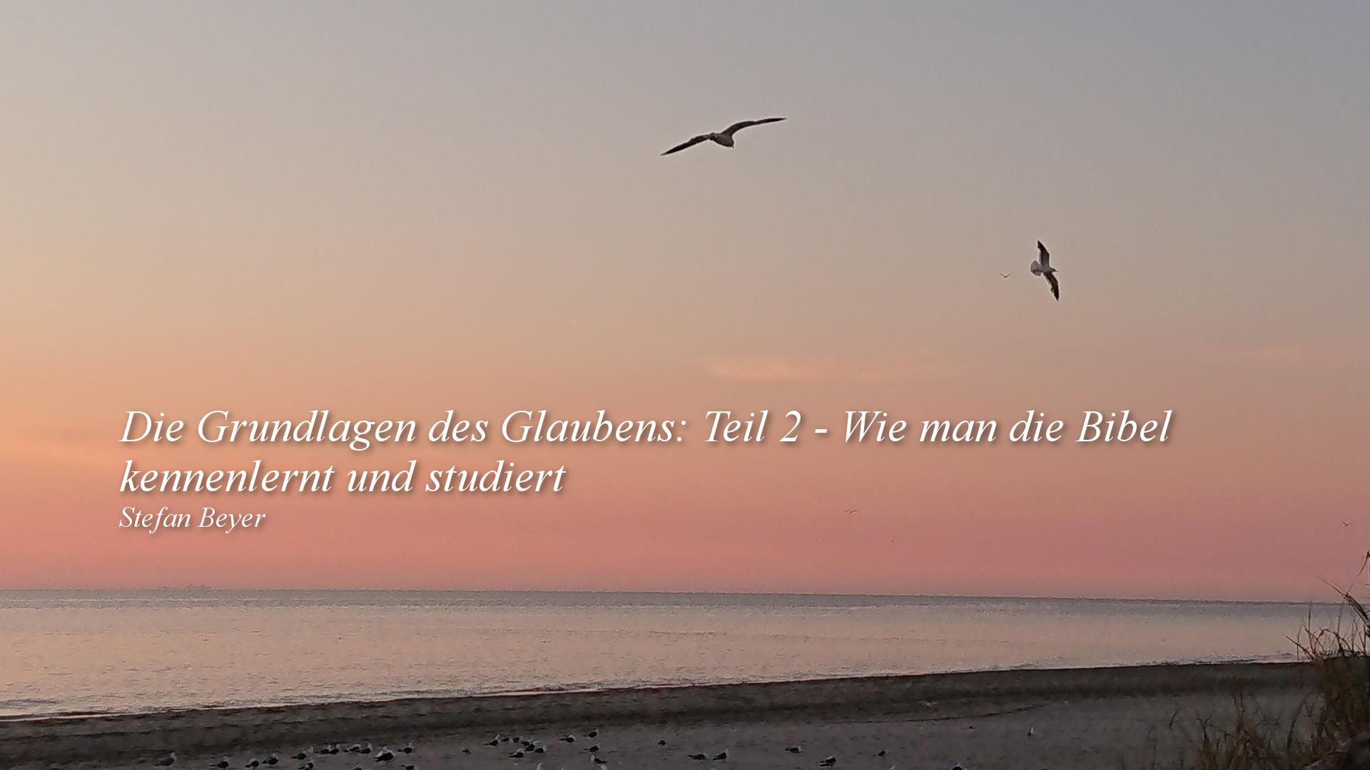 Die Grundlagen des Glaubens: Teil 2 – Wie man die Bibel kennenlernt und studiert