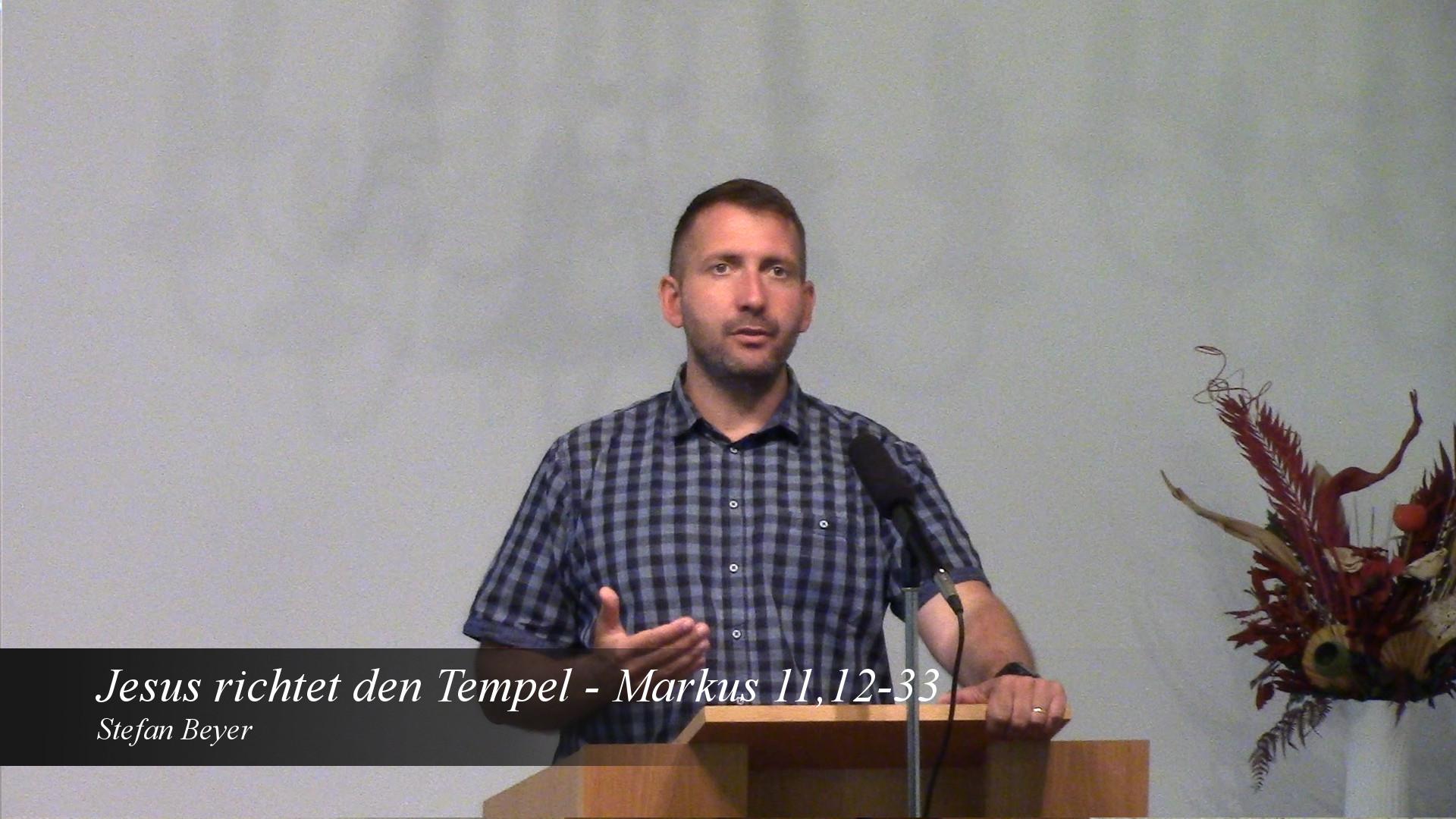 Jesus richtet den Tempel