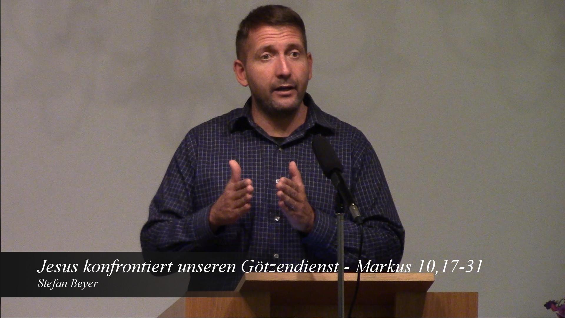 Jesus konfrontiert unseren Götzendienst